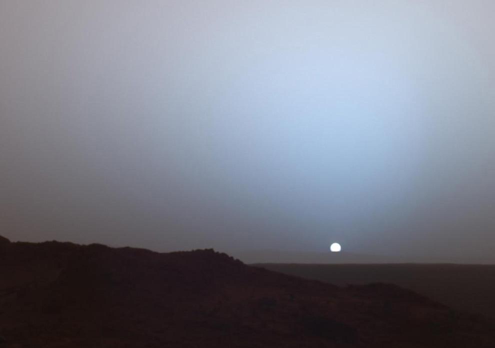 Pôr-do-sol... marciano