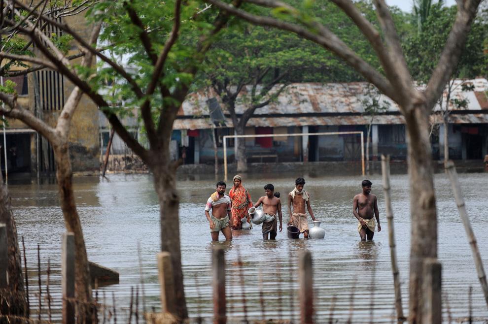 El ciclon India  Bangladesh golfo de Bengala