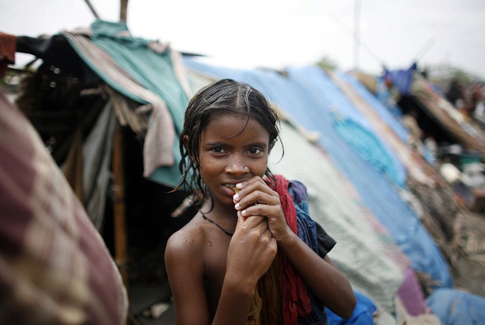 El ciclon en India  Bangladesh golfo de Bengala