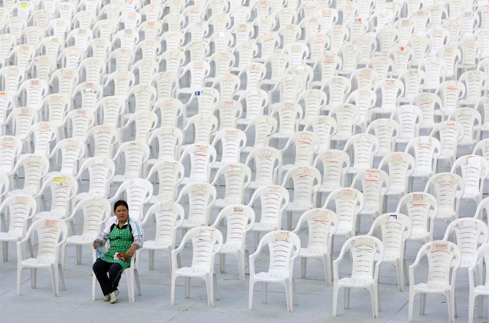 Plastikstühle in China