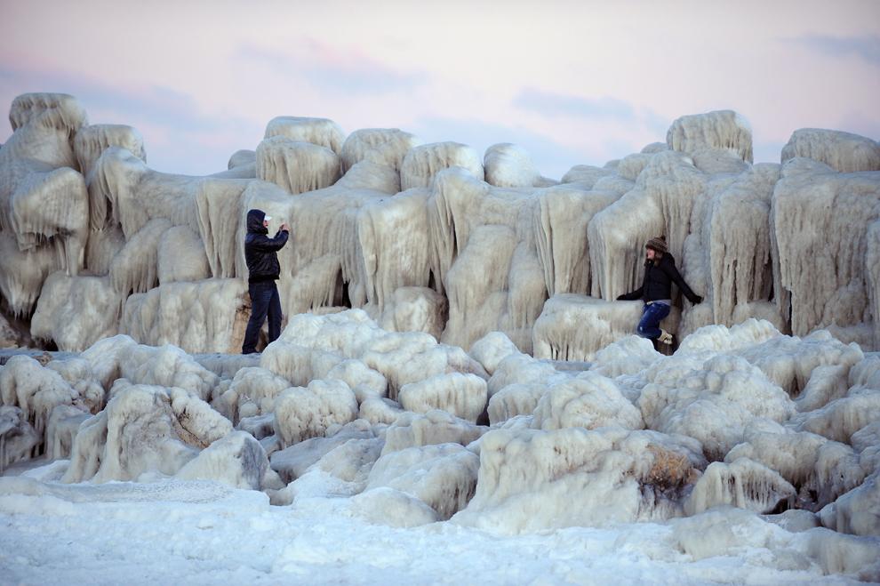 Imágenes increíbles de la ola polar en Europa