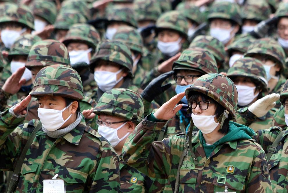 Во вторник Южная Корея повысила...  Наблюдая за пандемией свиного гриппа.