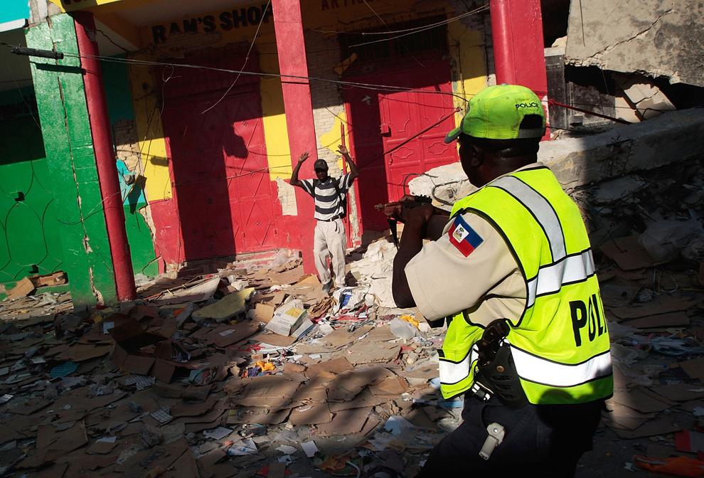 Haití Terremoto oficial de la policía