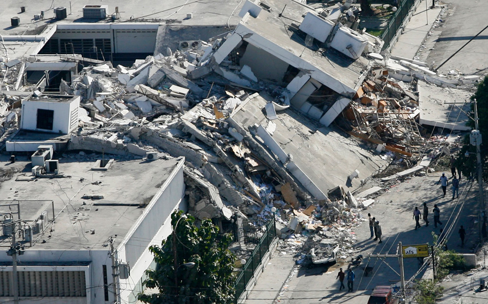 Haití Terremoto edificio que se derrumbó
