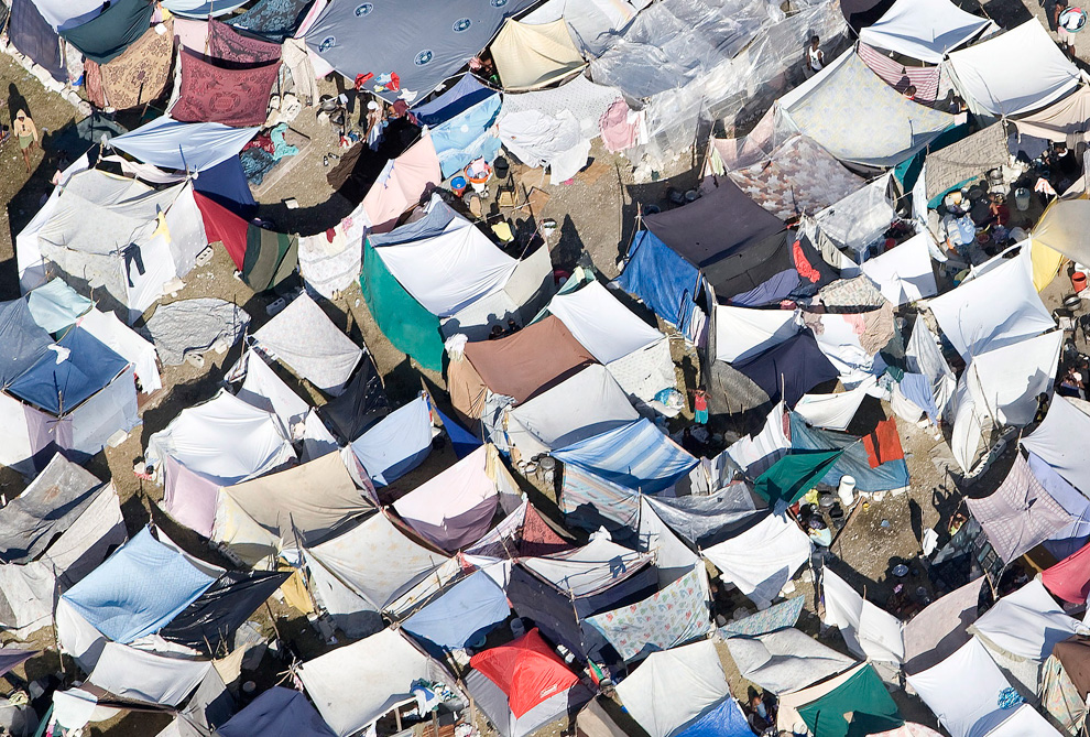Haiti Earthquake camp for homeless