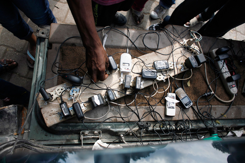 Haiti Earthquake mobile phone chargers