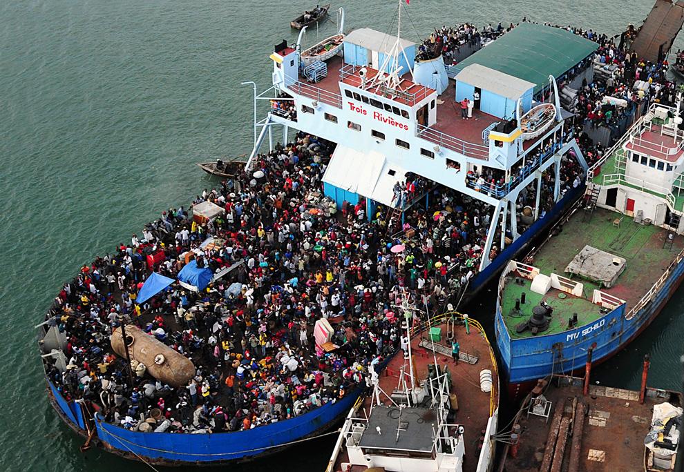 Haití Terremoto barco