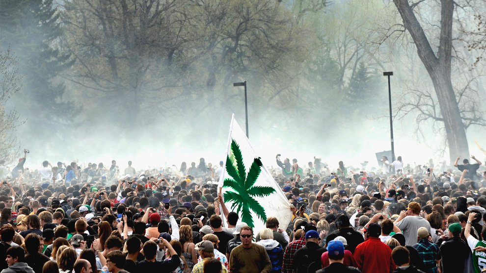A field of marijuana users