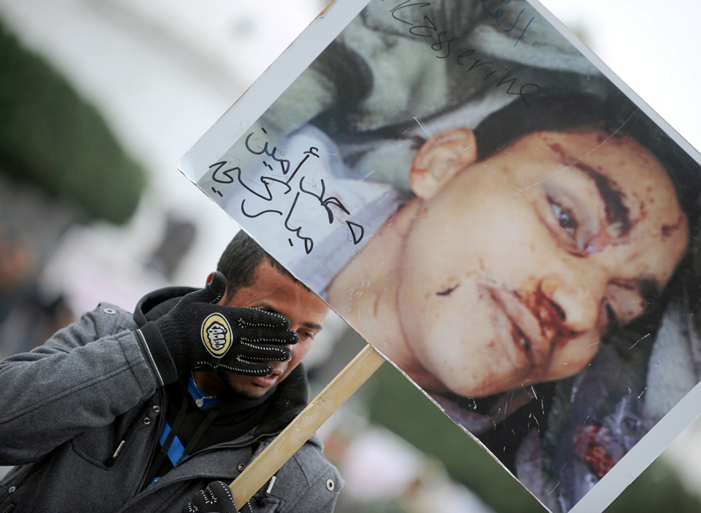 Protest spreads in the middle east photos the big for Mohamed mbarki