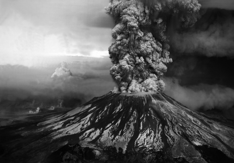 Mount St. Helens erupts May 18, 1980