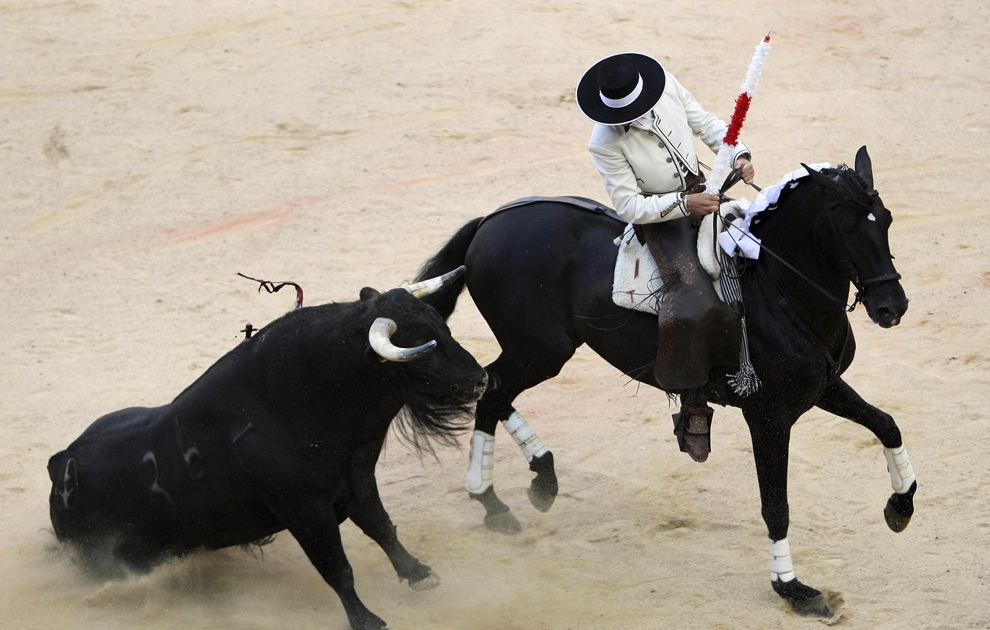 Bullfighting On Horseback