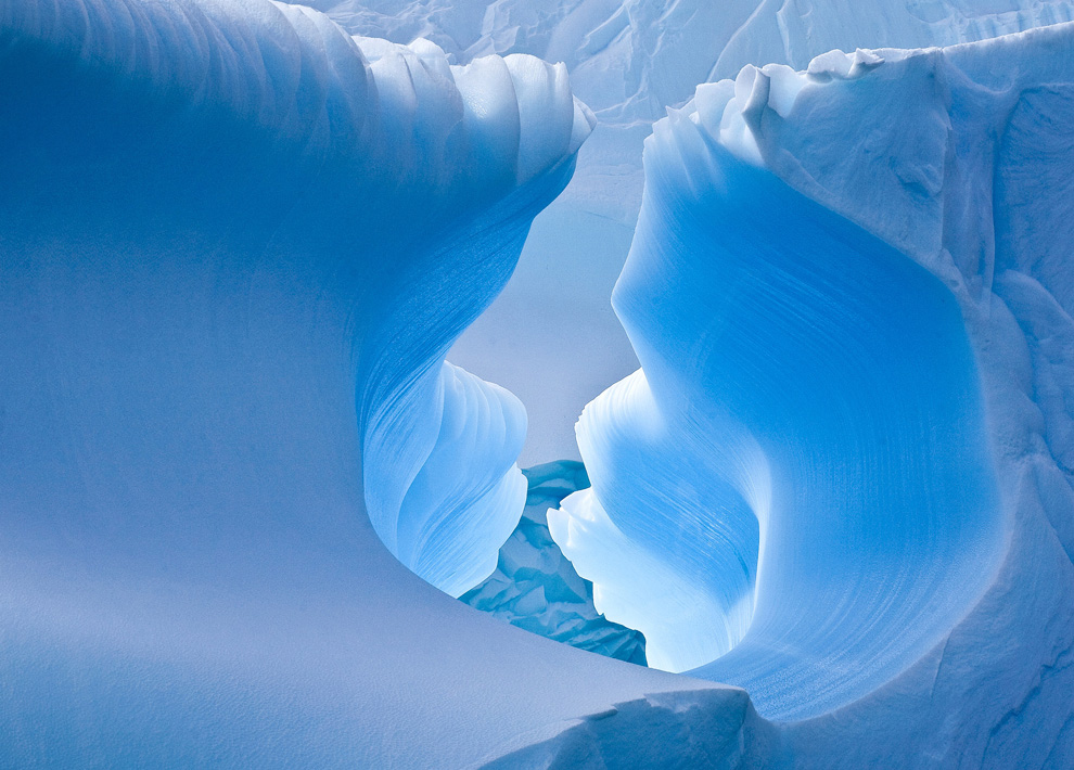 BLUE ICE CAVE  Antarctica, December 2011 (Jamie Scarrow/Bruce, Canberra, Australia)