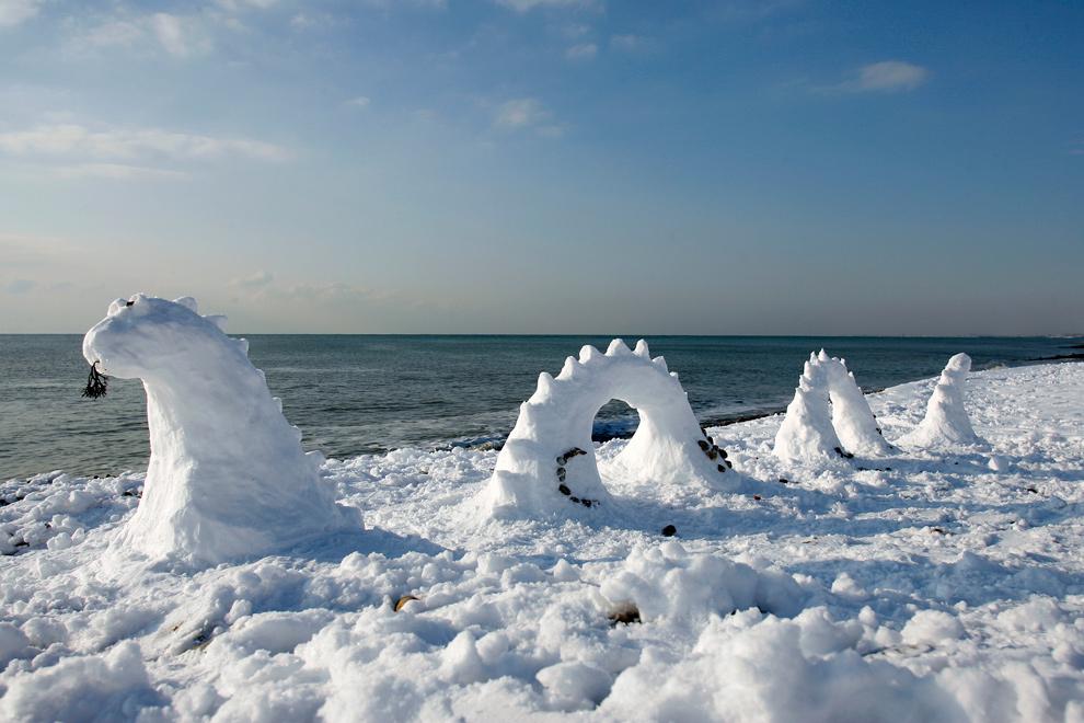 англия зима фото