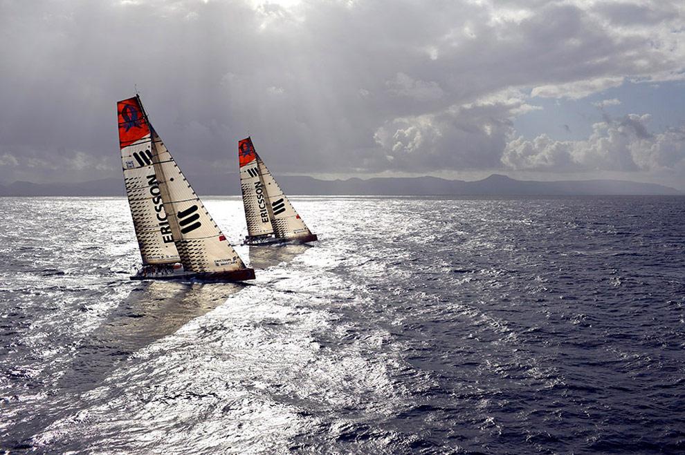 Два судна Ericsson 3 и 4 в Лансароте, Испания перед началом гонки. (© Oskar Kihlborg)