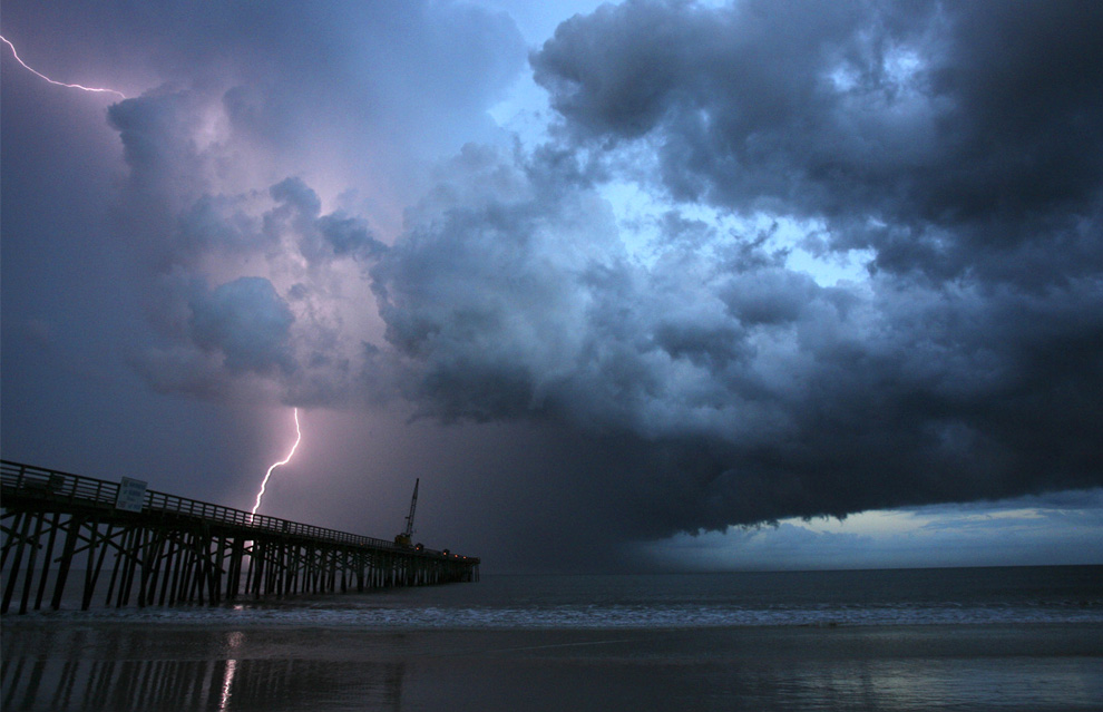 Beach In Storm Lightning: The Big Picture