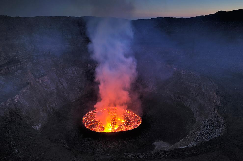 lac de lave ,du Nyiragongo;goma, DCR